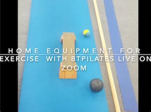 home equipment for btpilats on zoom